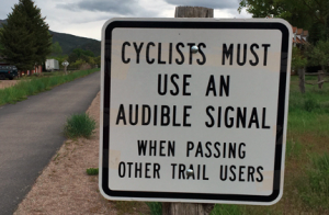 Cycle trail sign